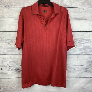 Tiger Woods Nike Fit Dry Large Red Polo Golf Tee